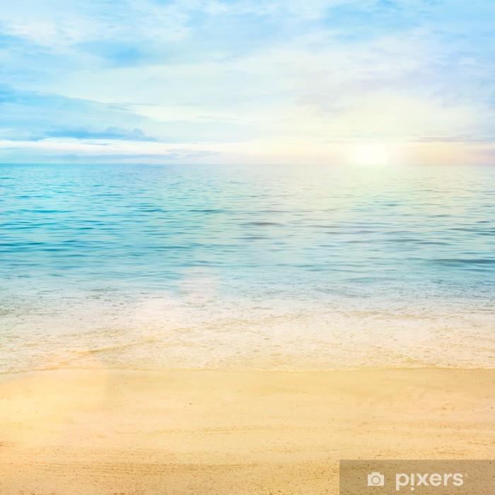 Vinilo Pixerstick Mar y arena de fondo - Estilos