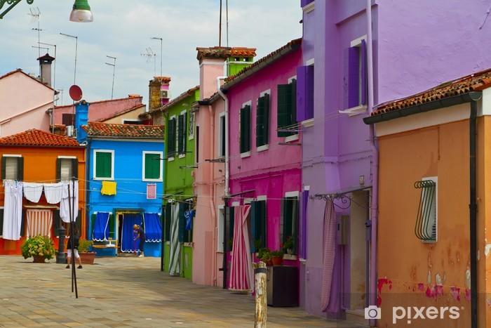 Fotomural Estándar Isla de Burano, casas de colores, Italia - Europa