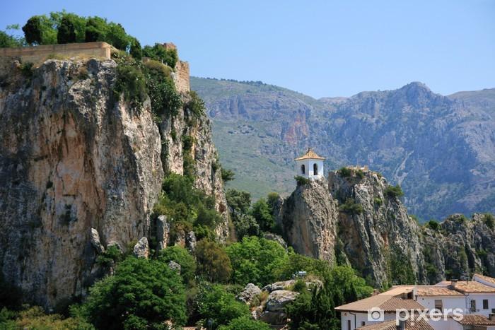 Pueblos de la montaña de Alicante, Guadalest Pixerstick Sticker - Boats