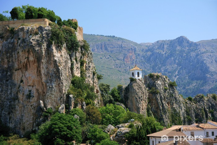 Vinilo Pixerstick Pueblos de la Montaña de Alicante, Guadalest - Barcos