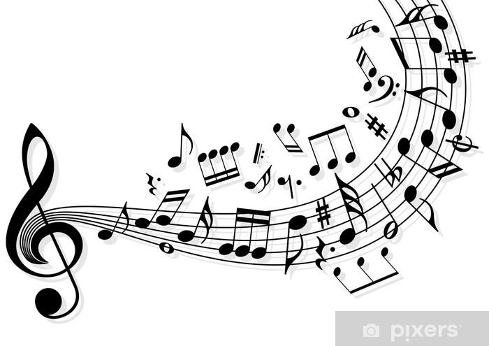 Papier Peint Note Musique Pixers Nous Vivons Pour Changer