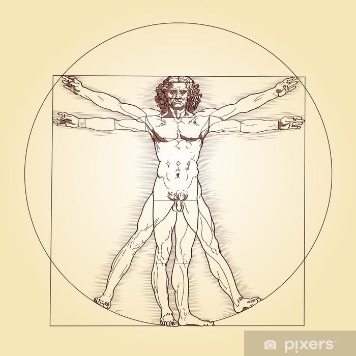 Vinyl-Fototapete Vitruvianischer Mensch - Leonardo da Vinci - Themen