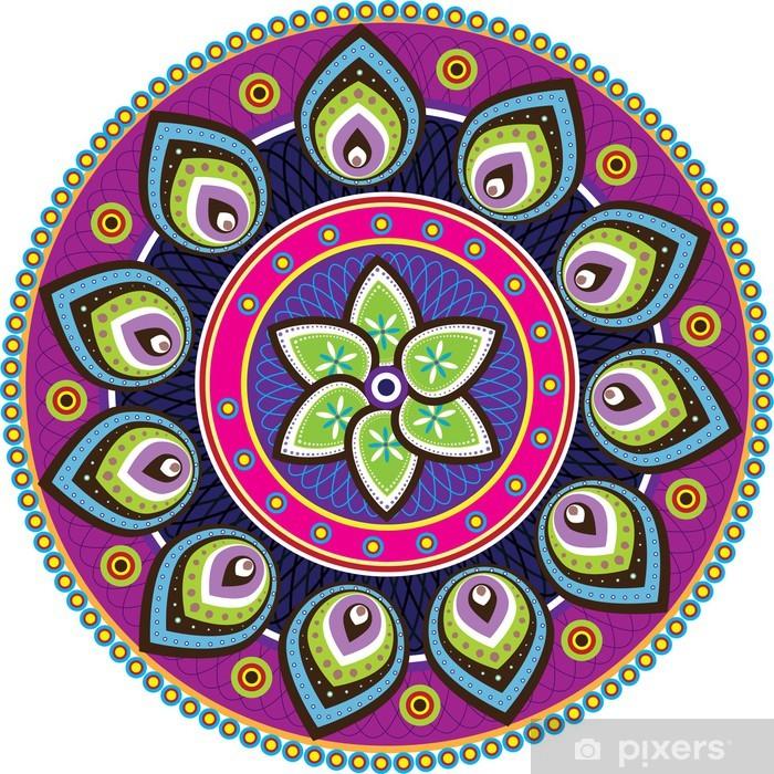 Papier peint vinyle Illustration Vecteur Stock: texture indienne - Sticker mural