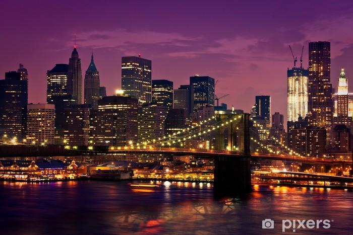 Carta da Parati in Vinile Ponte di Brooklyn di New York -