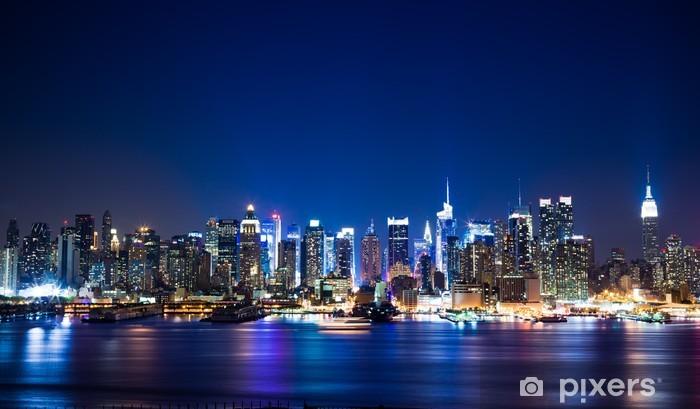 Naklejka Pixerstick New York Manhattan skyline - Tematy