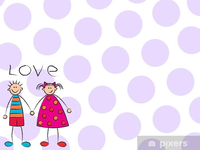 81597967cacdfe Sticker Jongen + meisje = liefde (paars) • Pixers® - We leven om te ...