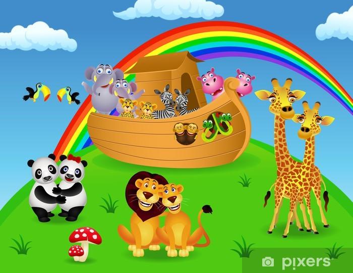 Fototapeta winylowa Noah Ark ze zwierzętami - Dla przedszkolaka