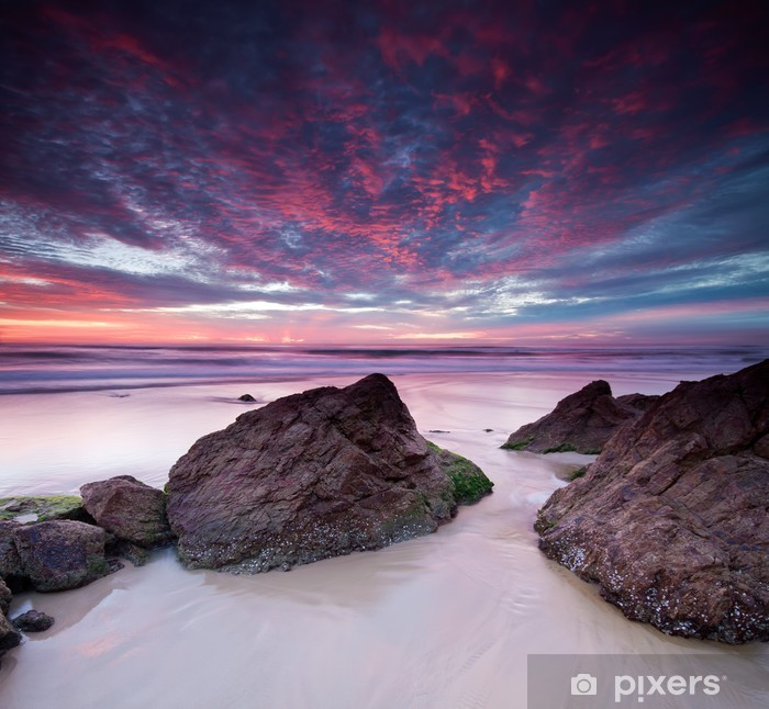 Papier peint vinyle Australie paysage à l'aube du format carré - Australie