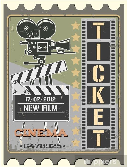 Papier peint vinyle Ticket de cinéma - Thèmes