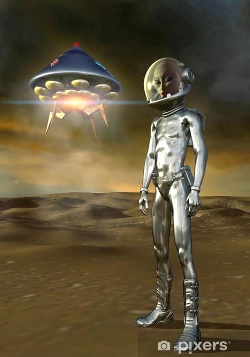 Naklejka Pixerstick Obcych i ufo -