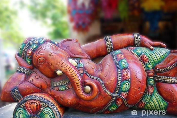 Pixerstick Sticker Een standbeeld van een Indiase god, Lord Ganesha - Openbare Gebouwen