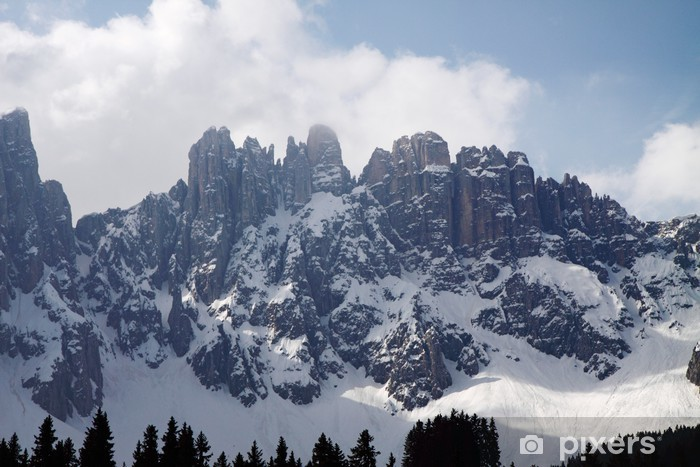 Vinyl-Fototapete Dolomiten im Schnee - Europa