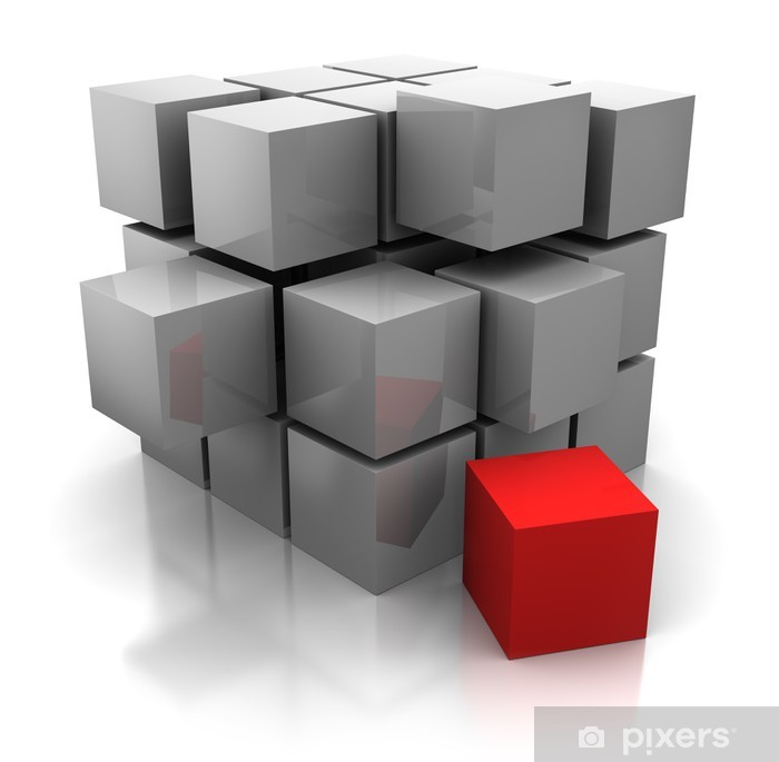 Póster Cubos de construcción - Abstractos