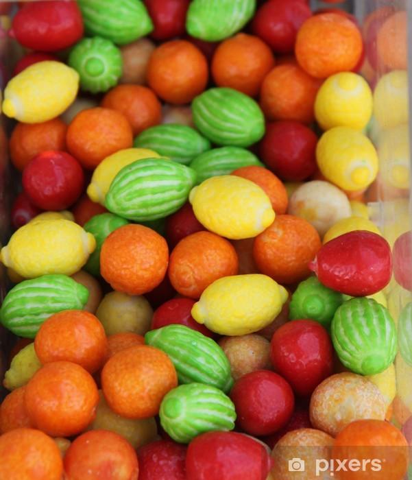 Carta da Parati in Vinile Caramelle a forma di frutta - Temi