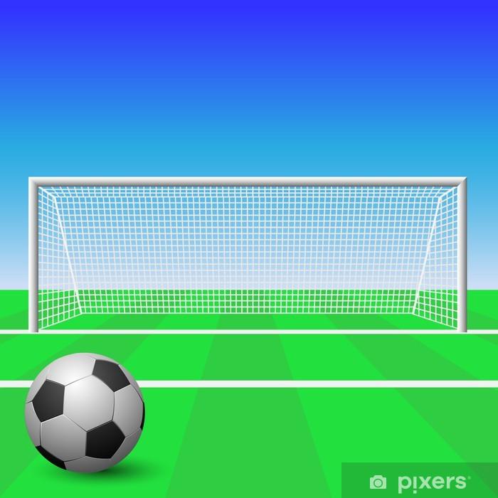 Fototapeta winylowa Goal Soccer z piłką - Sporty drużynowe