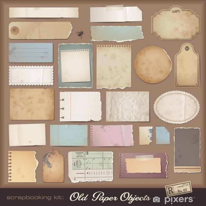 Poster Kit scrapbooking numérique: papier vieilli - Cartes de vœux