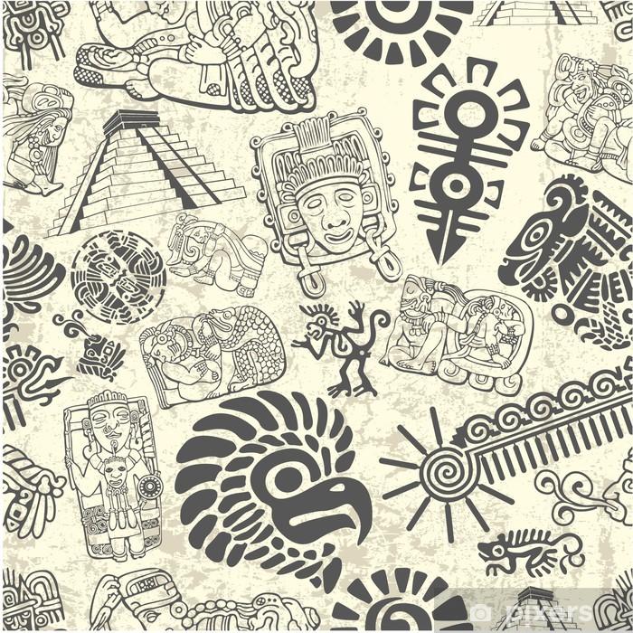 Fotomural Estándar Ornamento inconsútil en el estilo de los mayas - iStaging 2