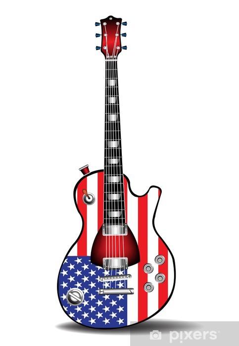 Sticker Pixerstick Guitare électrique américaine - Musique