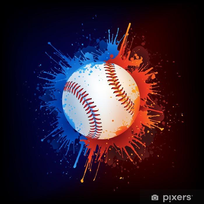 Baseball Ball Vinyl Wall Mural - Team Sports