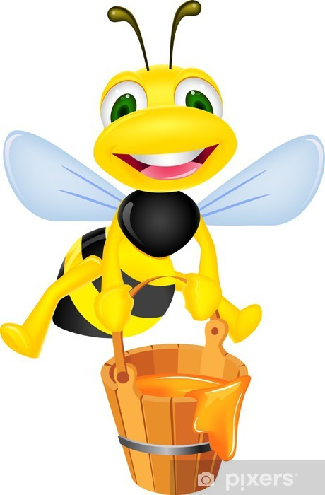 Bee carrying honey Vinyl Wall Mural - Wall decals