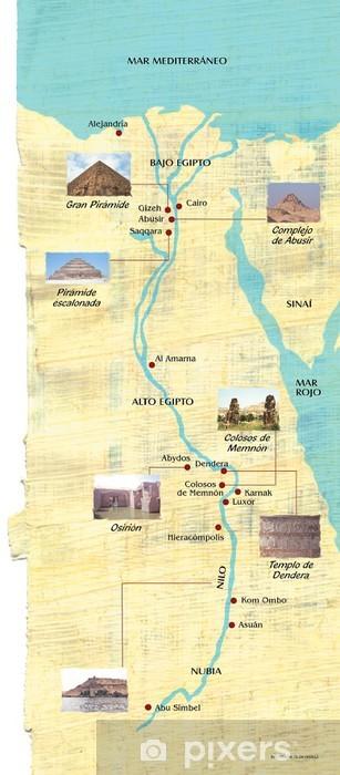 Fototapeta Mapa Egiptu Pixers Zyjemy By Zmieniac