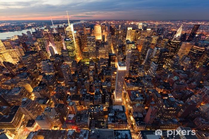 Fototapeta winylowa Widok na Manhattan z lotu ptaka -