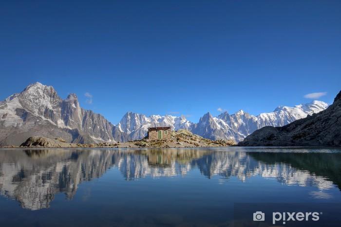 Papier peint vinyle Mont Blanc reflétant dans le lac Blanc, Chamonix, France - Thèmes