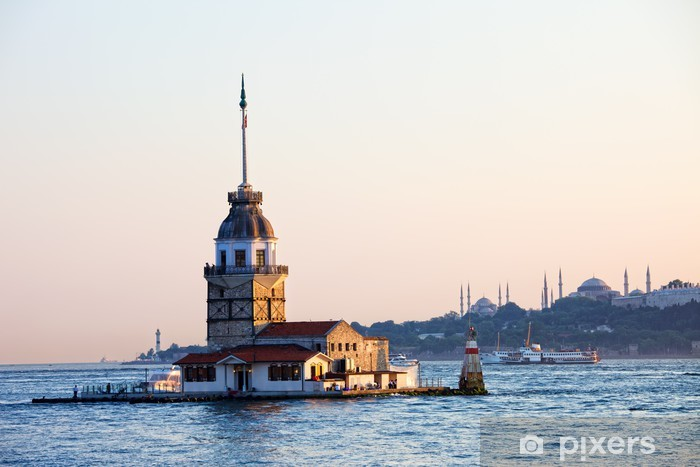Maiden Tower in Istanbul Pixerstick Sticker - The Middle East