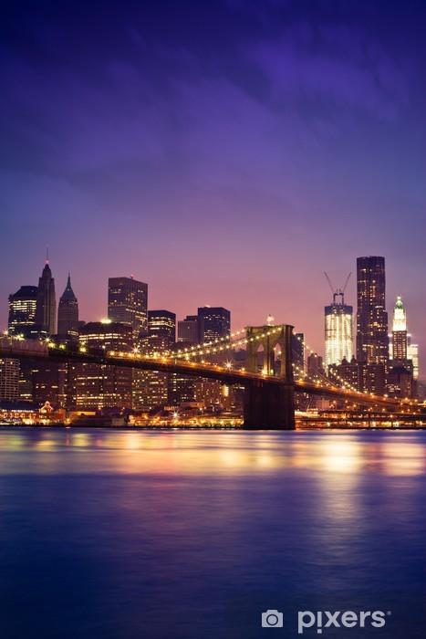 Vinilo para Nevera Puente de Brooklyn de Nueva York - Temas