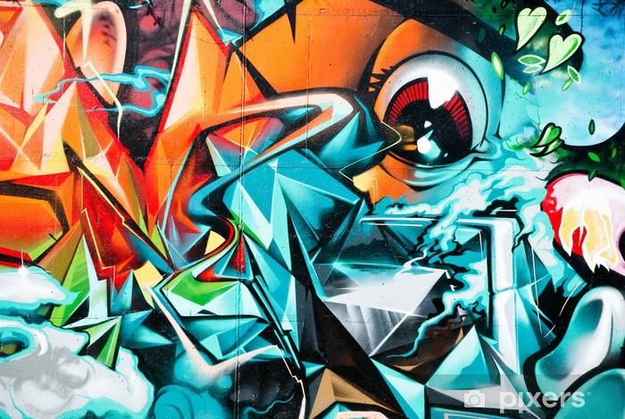 Fototapeta winylowa Abstract graffiti, szczegóły na ścianie teksturowane -