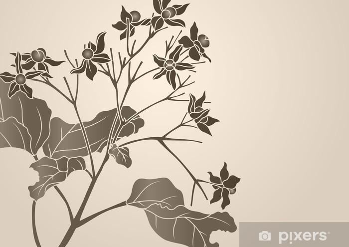 Vinyl-Fototapete Grafische Muster - Pflanzen