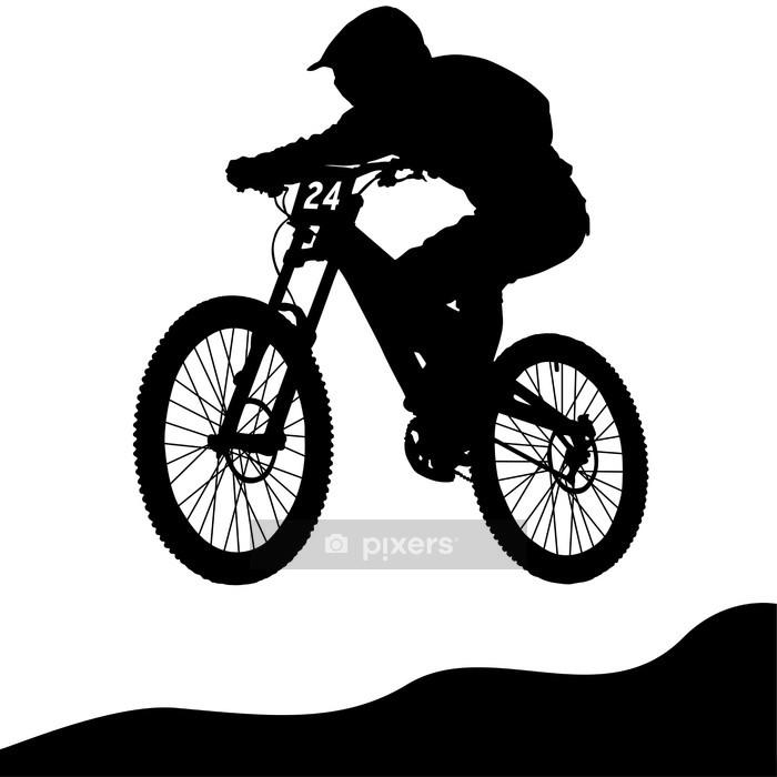 Vinilo para Pared Mountainbike Downhill - Deportes individuales