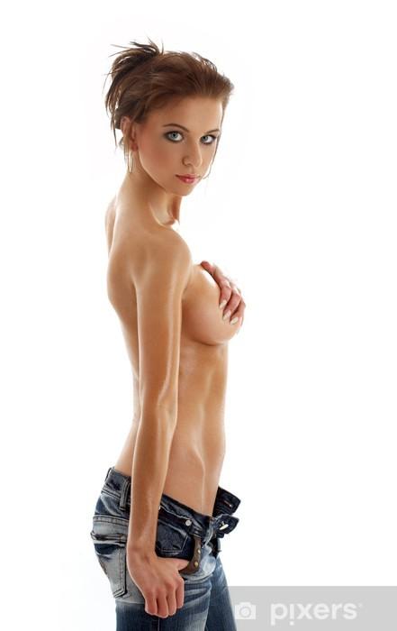 Fototapeta winylowa Garbowane topless dziewczyny w dżinsach - Uroda i pielęgnacja ciała