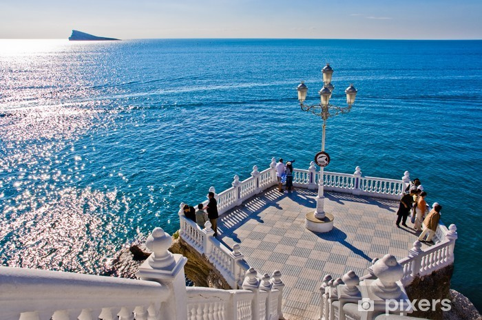 Fototapeta winylowa Benidorm - Mirador del Mediterraneo - Pejzaż miejski