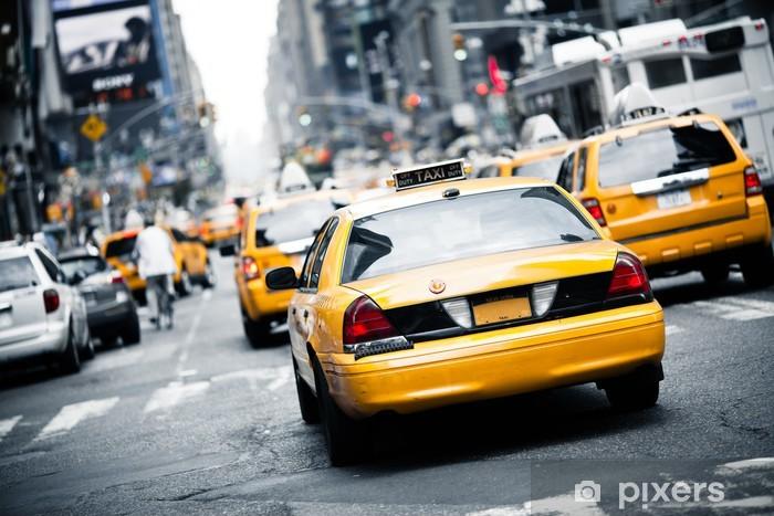 Tvättbar Fototapet New York Taxi - Teman