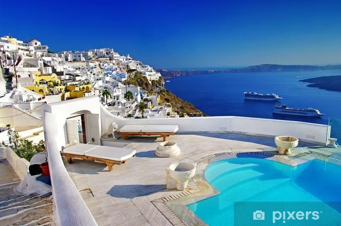 luxury vacation - Santorini Pixerstick Sticker - Themes
