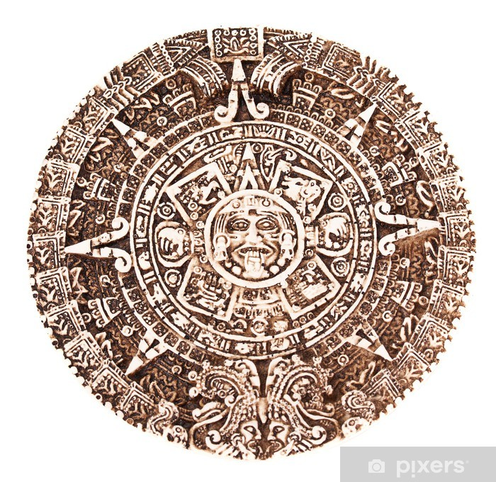 Calendario Dei Maya.Adesivo Calendario Maya Pixerstick