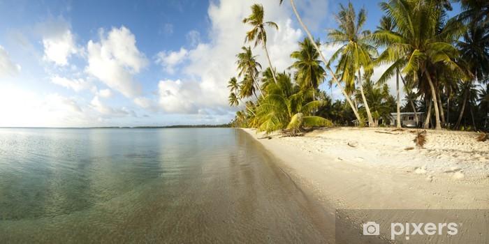 White sand beach panoramic view Pixerstick Sticker - Themes