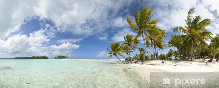 Sticker Pixerstick Paradise beach vue panoramique - Thèmes