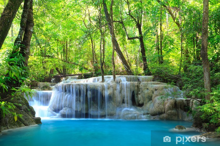 Papier peint vinyle Erawan Waterfall, Kanchanaburi, Thaïlande - Thèmes