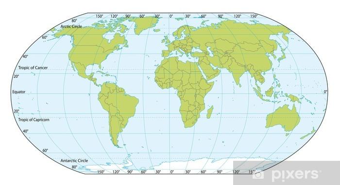 Nalepka Pixerstick Mapa Sveta Se Souradnicemi Aktualni Verze