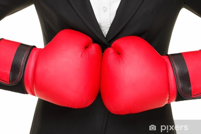 Naklejka Pixerstick Koncepcja biznesowa - rękawice bokserskie i garnitur - Tematy