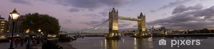 Panoramic photo of Tower Bridge and River Thames, London. Vinyl Wall Mural - Themes