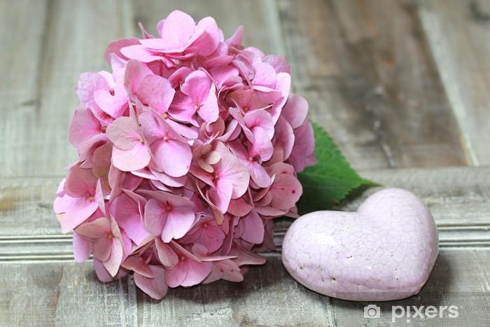 Pixerstick Aufkleber Hortensien - Blumen