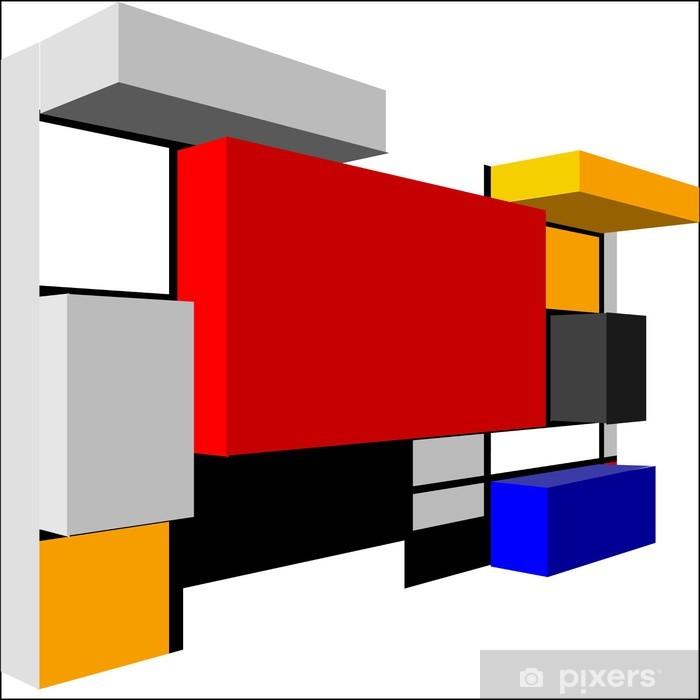 Poster Résumé du modèle 3D Seamless géométrique coloré de vecteur pour conti - Arrière plans