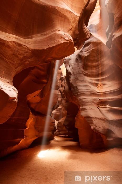 Vinilo Pixerstick Rayo de luz en el Upper Antelope Canyon Arizona de página - Religión
