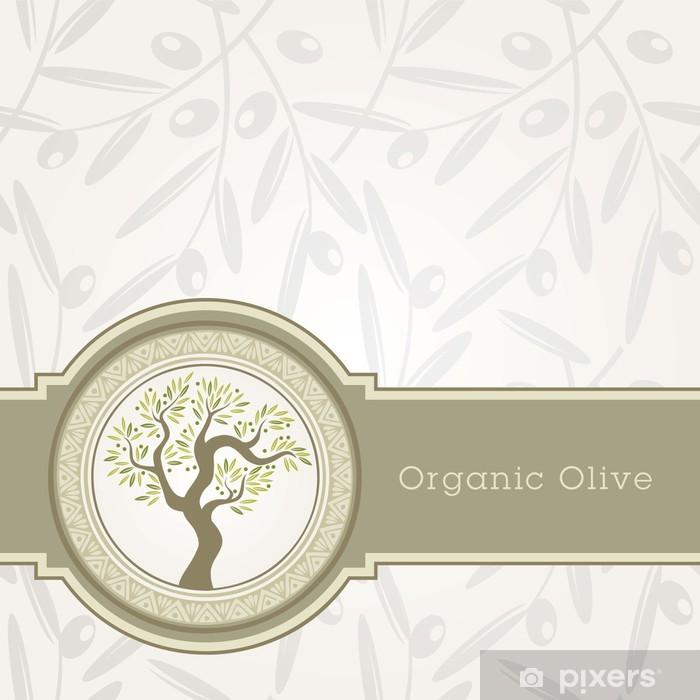 Sticker Olive Modèle Détiquette Dhuile Pixerstick