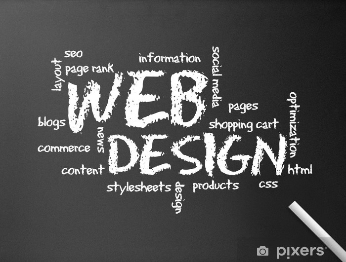 Fototapeta winylowa Chalkboard - Web Design - Internet i sieci