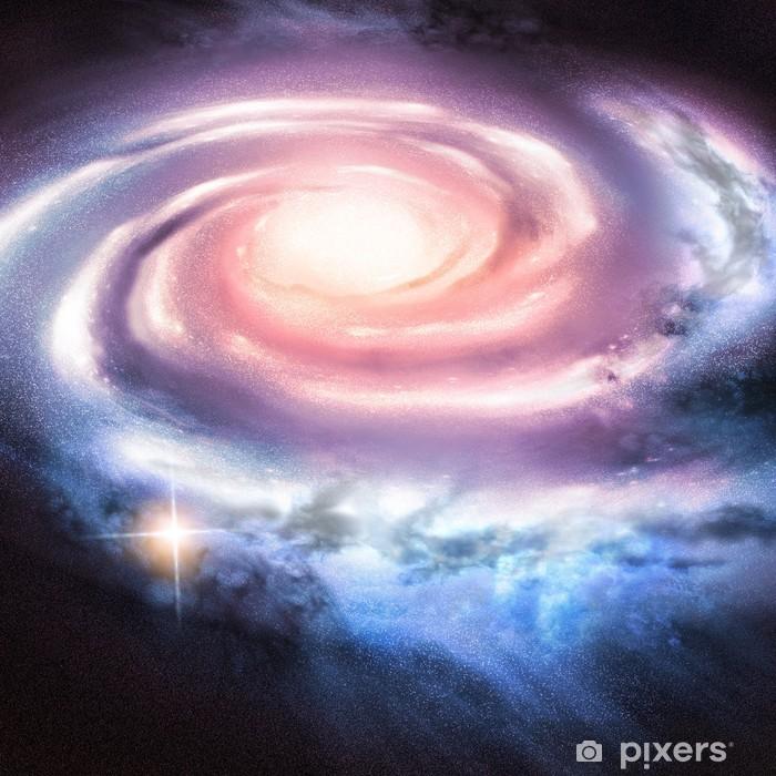 Papier Peint Autocollant Light Years Away - galaxie spirale à distance. - Univers