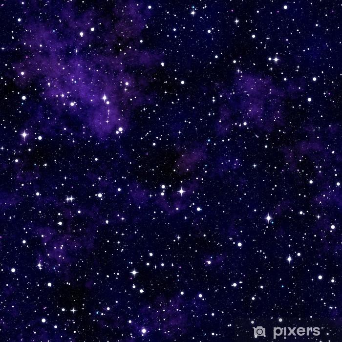 Carta da Parati in Vinile Seamless texture che simula il cielo notturno - Universo